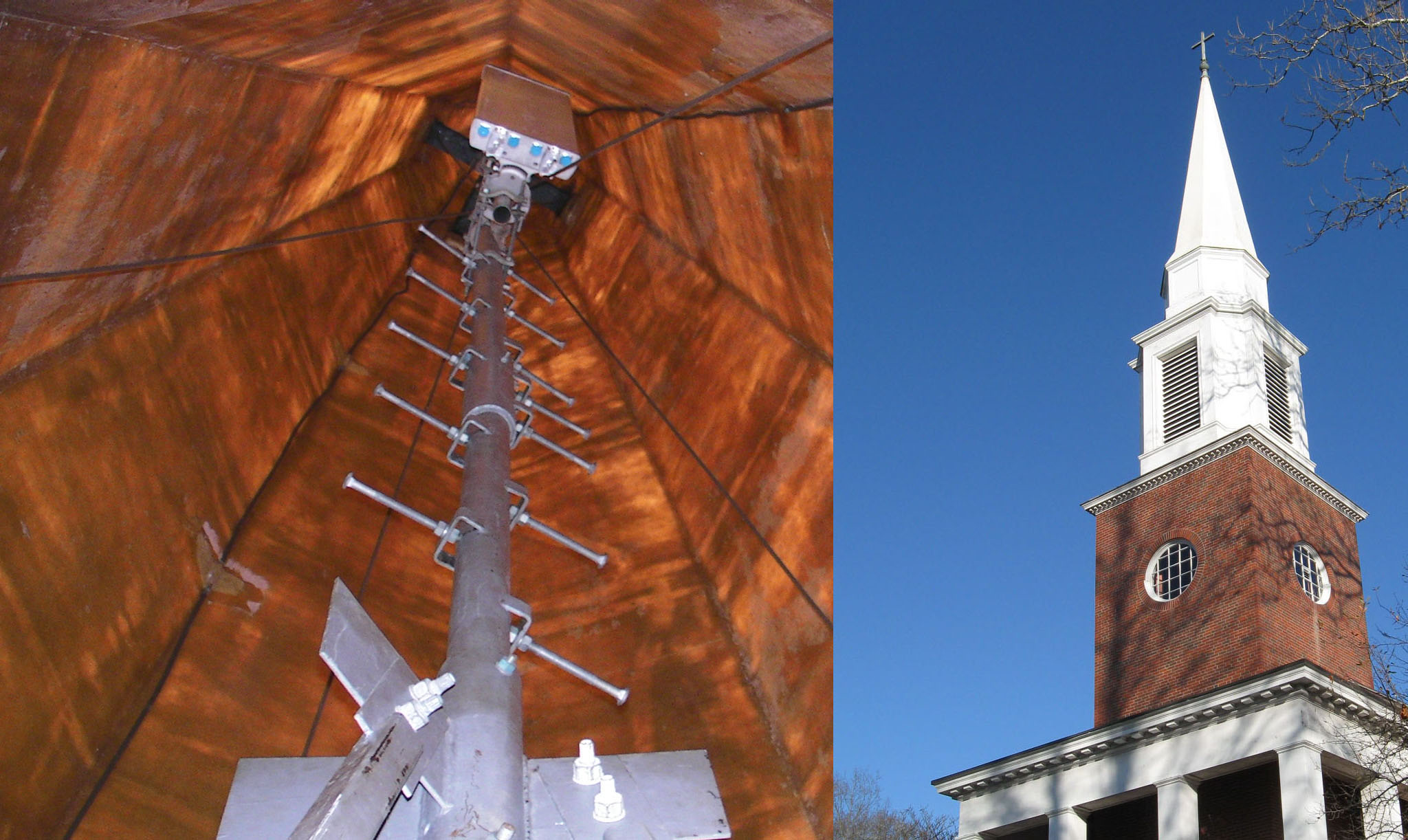Image result for cell antenna in church steeple